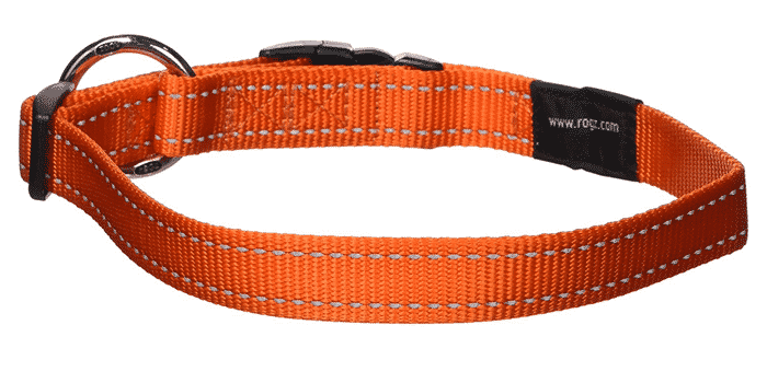 ROGZ Utility Large 3/4-Inch Reflective Fanbelt Dog Collar