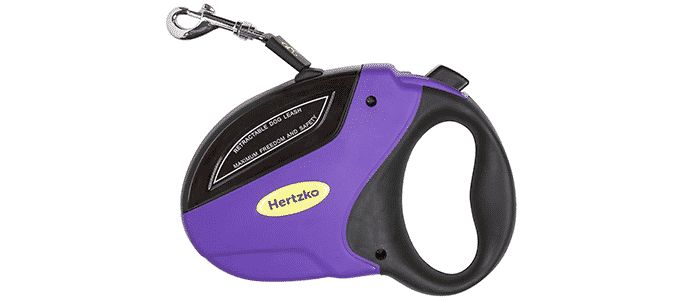 heavy duty retractable dog leash by hertzko