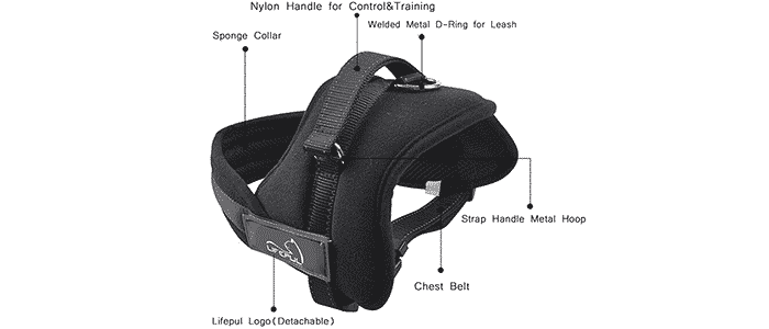 lifepul tm no pull dog vest harness
