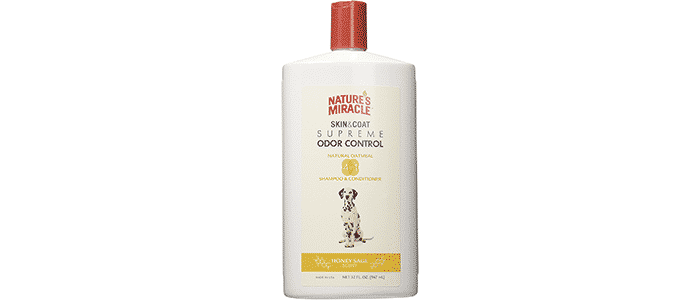 natures miracle supreme odor control natural oatmeal shampoo conditioner