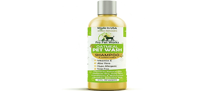 pro pet works natural oatmeal dog shampoo conditioner