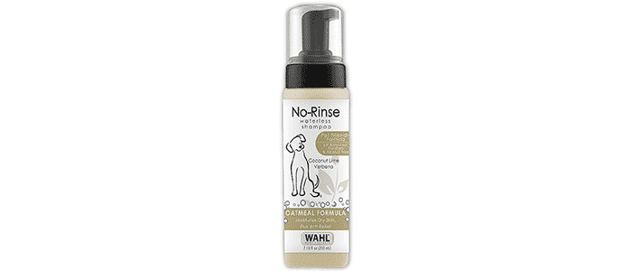 wahl natural pet no-rinse waterless shampoo