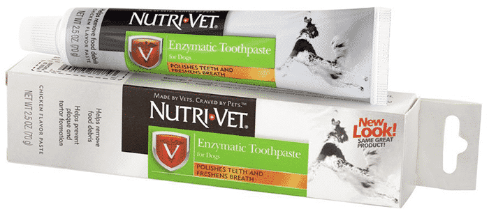 nutri-vet enzymatic chicken flavored canine toothpaste