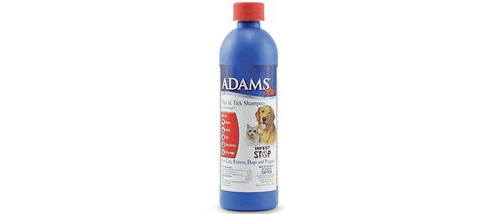 adams plus flea tick shampoo with precor for dogs and cats