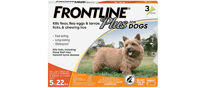 frontline plus for small dog flea and tick treatment