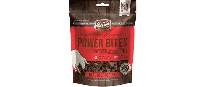 merrick grain free gluten free power bites dog treats