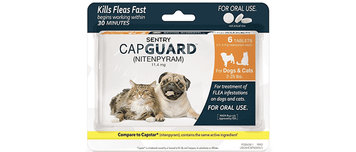 sentry capguard nitenpyram oral flea control medication