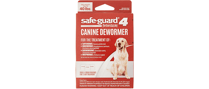 excel 8in1 safe-guard canine dewormer for dogs