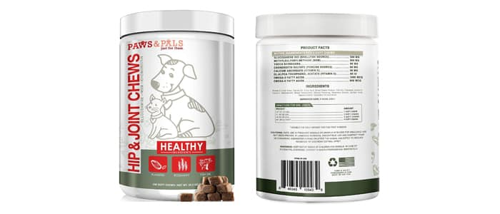 Paws and Pals Glucosamine for Dogs