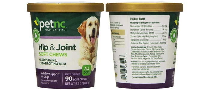 PetNC Natural Care Hip and Joint Soft Chews for Dogs
