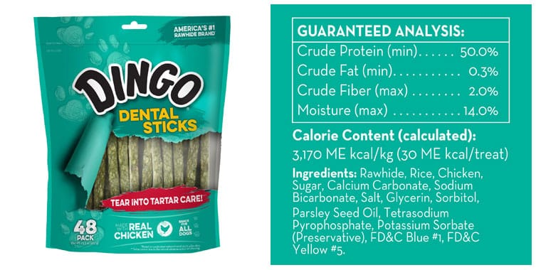 Dingo Tartar And Breath Chicken Dental Sticks For All Dogs