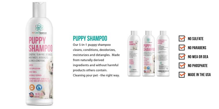 PET CARE Sciences Natural Puppy Shampoo