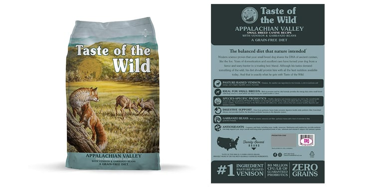 Taste of The Wild Appalachian Valley Grain Free Dog Food