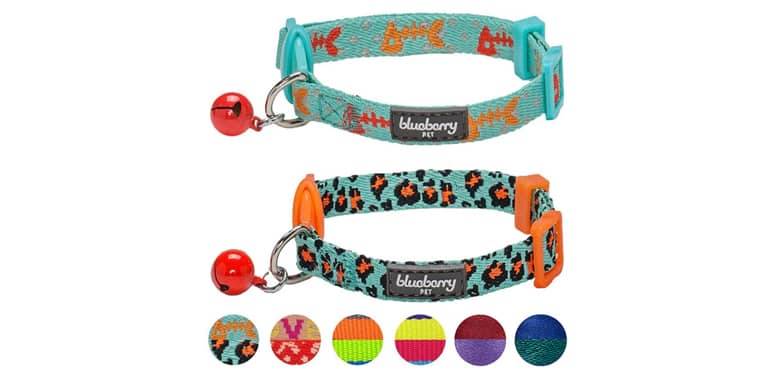 Blueberry Pet 7 Patterns Breakaway Safety Cat Collar
