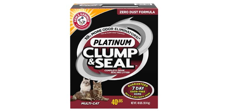 ARM and HAMMER Clump and Seal Platinum Cat Litter
