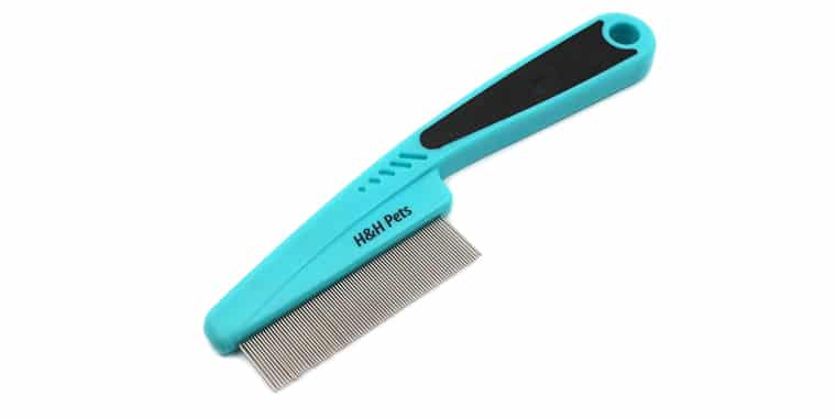 HH Pets Flea Comb with Rubber Handle